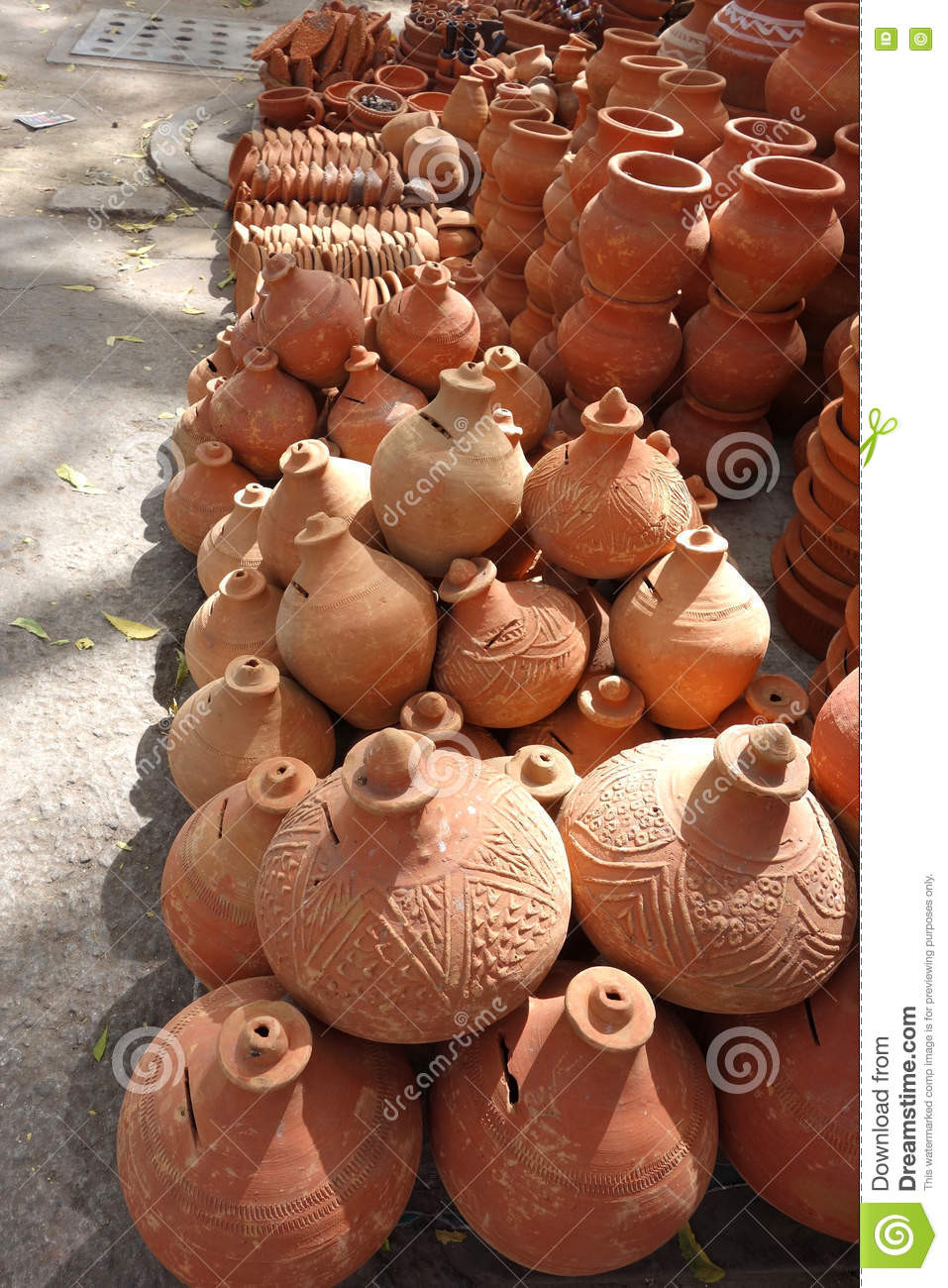 New Clay Pots for Sale the Street Stock Image Pottery Clay for Sale Of Unique Traditional Ceramic Jugs Decorative towel Showcase Pottery Clay for Sale