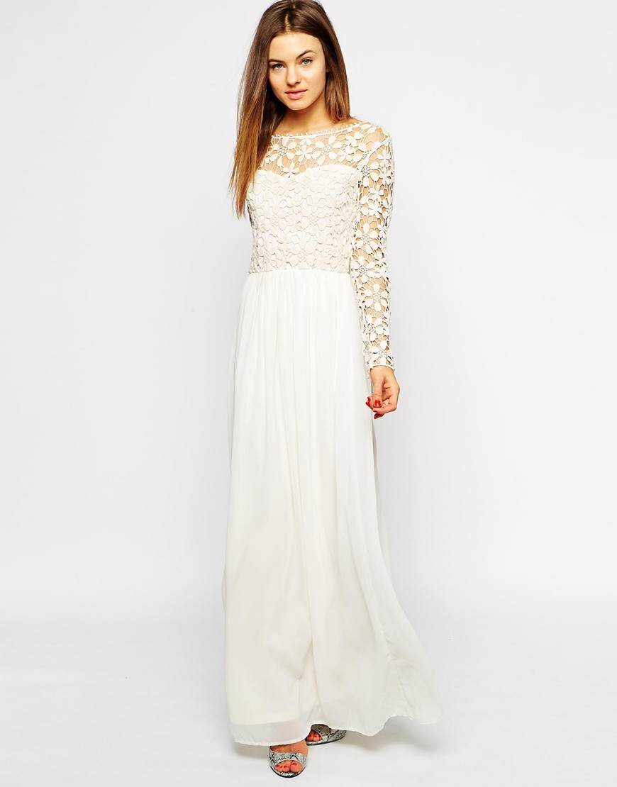 New Club L Crochet Maxi Dress with Long Sleeves In Natural Long Crochet Dress Of Lovely 48 Pics Long Crochet Dress