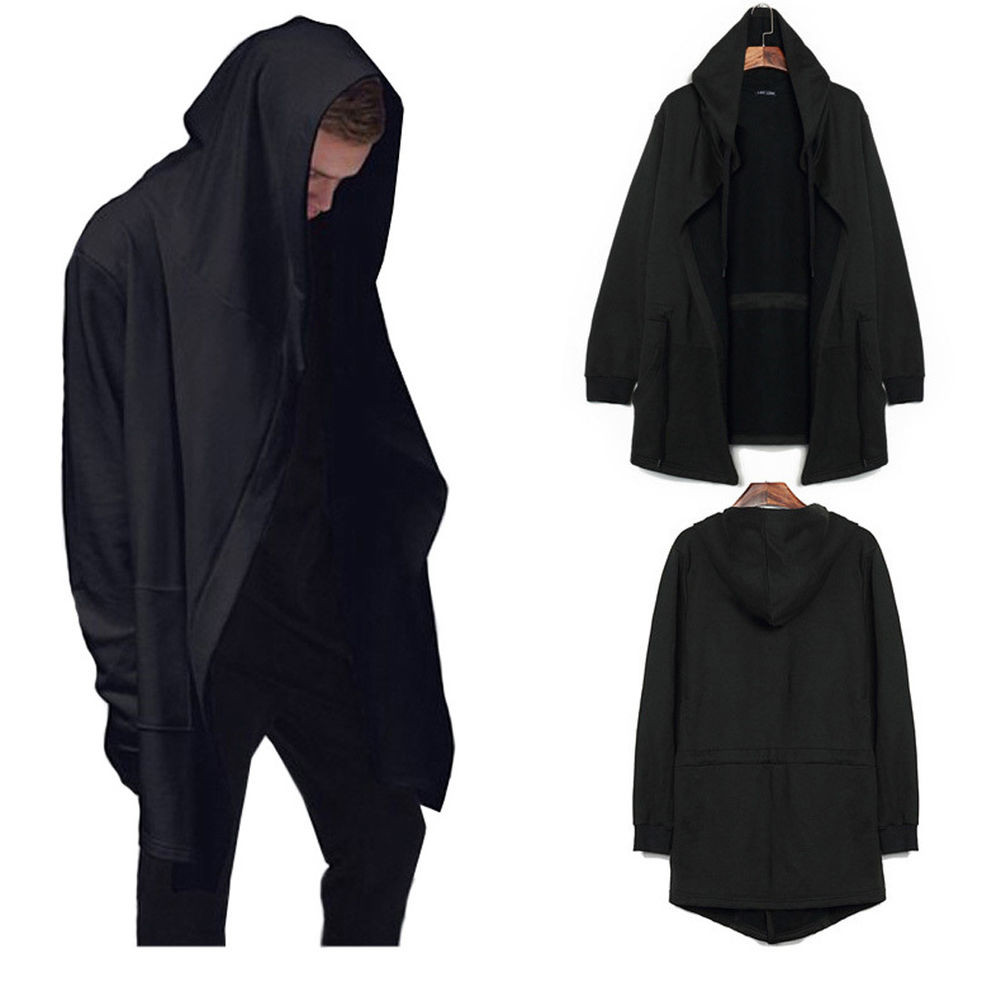 New Cool Men S Hooded Sweater Cardigan Long Cloak Cape Jacket Cool Ponchos Of Luxury 46 Pics Cool Ponchos