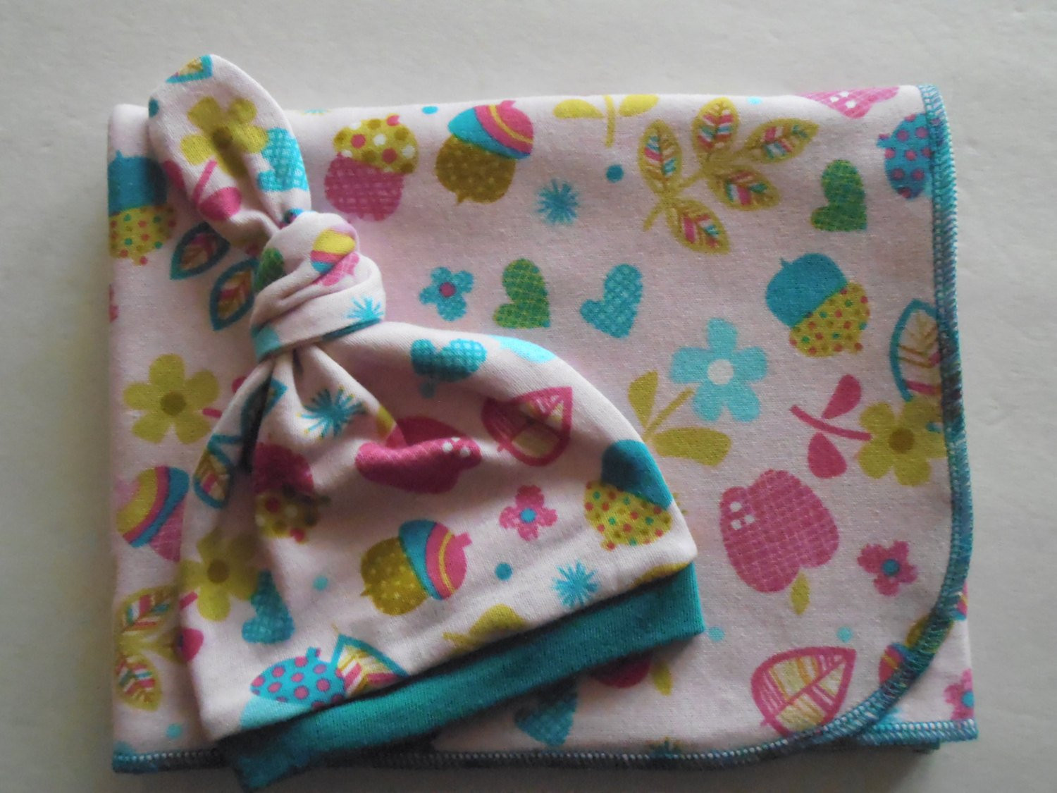 Cotton Knit Baby Swaddle Blanket and by ChubbyCheekbabies