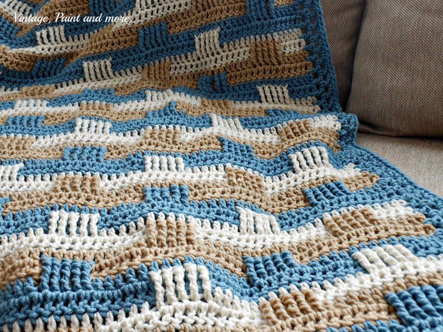 New Crochet Afghan and Stenciled Pillow Basketweave Crochet Afghan Pattern Of Amazing 50 Images Basketweave Crochet Afghan Pattern