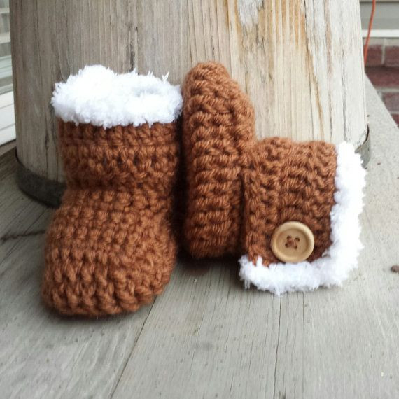 New Crochet Baby Girl Boots Faux Fur Uggs In toffee by Crochet Uggs Boots Of New 45 Ideas Crochet Uggs Boots