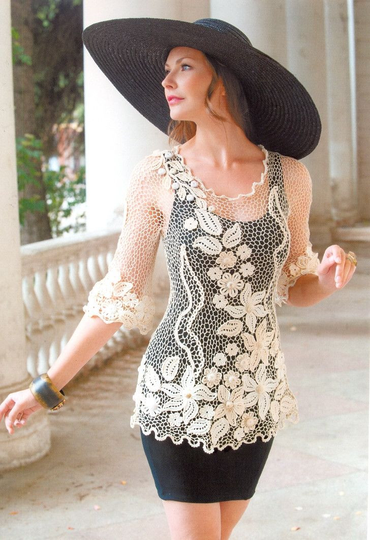 New Crochet Blouse with Flowers Daliute Crochet Blouse Of Superb 46 Models Crochet Blouse