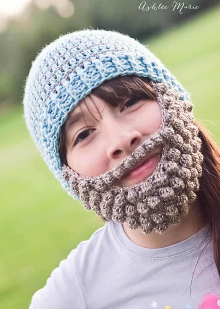 New Crochet Bobble Beard Pattern Multiple Sizes Crochet Beard Hat Of Charming 44 Models Crochet Beard Hat