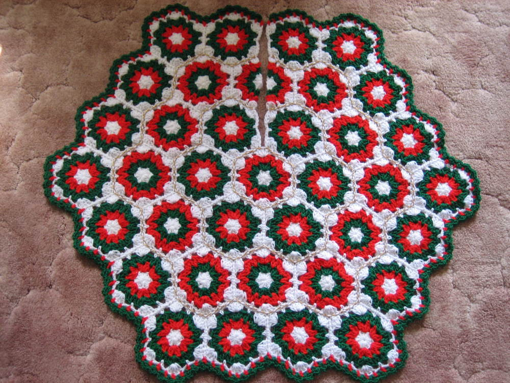 New Crochet Christmas Tree Skirt Crochet Tree Skirt Of Innovative 45 Ideas Crochet Tree Skirt