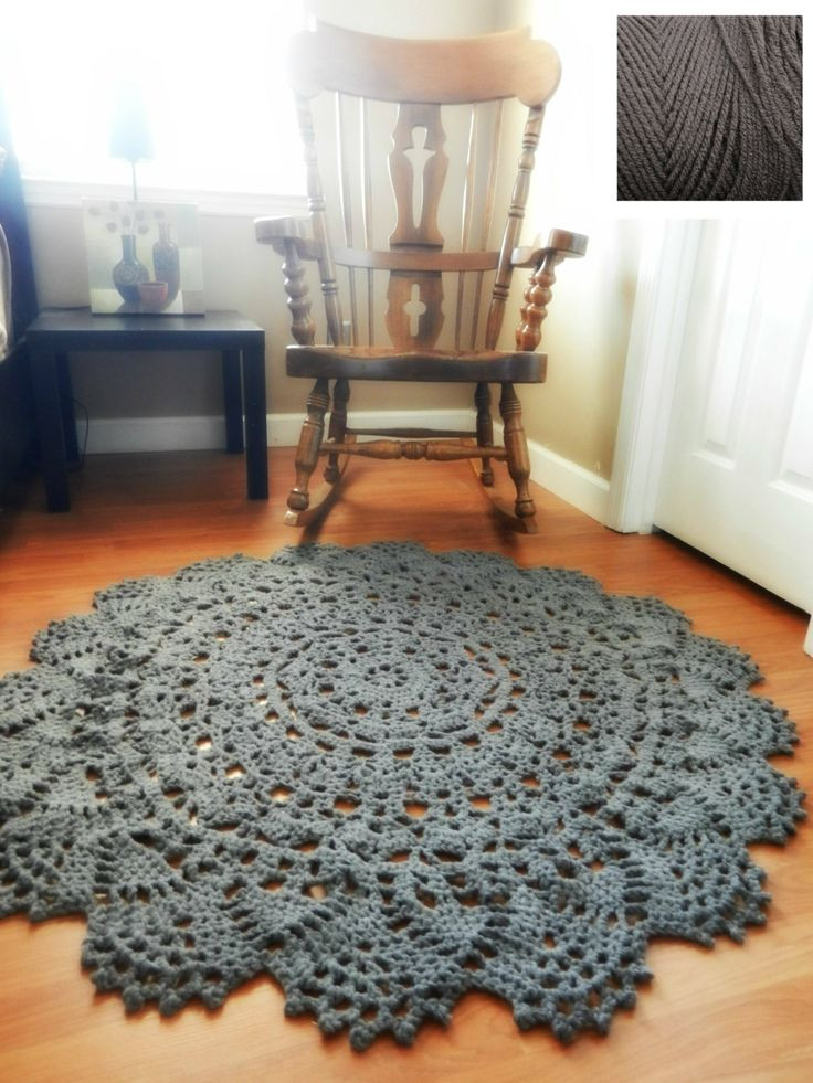 New Crochet Doily Rug Floor Charcoal Gray Grey Lace by Doily Rug Of Fresh 50 Pics Doily Rug