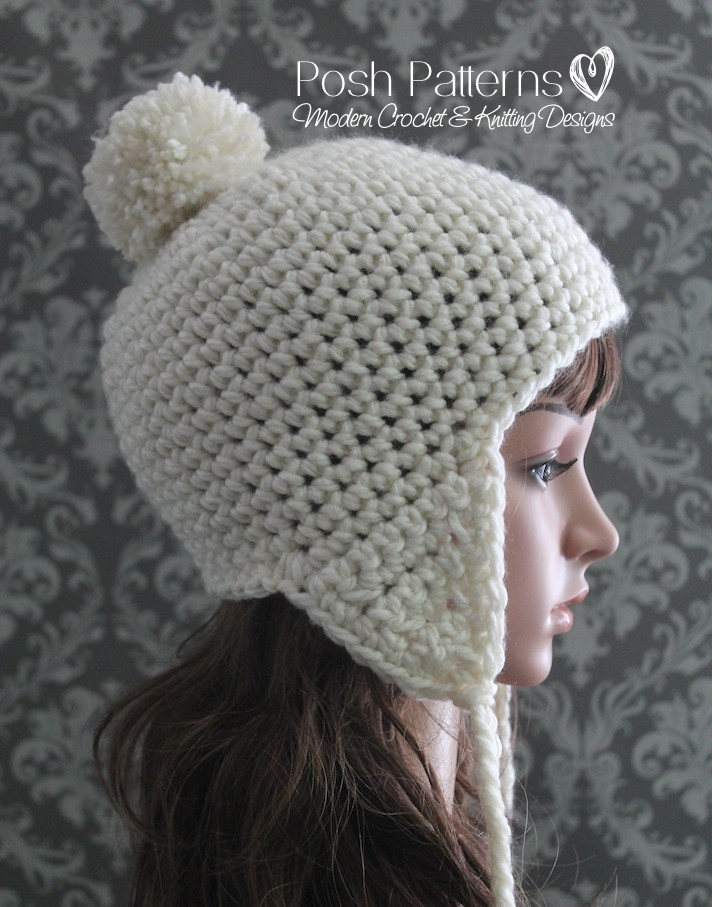New Crochet Earflap Hat Pattern Earflap Hat Crochet Pattern Of Wonderful 43 Images Earflap Hat Crochet Pattern