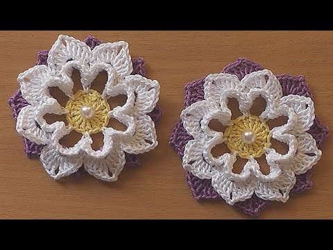 New Crochet Flower Very Easy Tutorial 3 Youtube Crochet Tutorial Videos Of Lovely 41 Photos Youtube Crochet Tutorial Videos