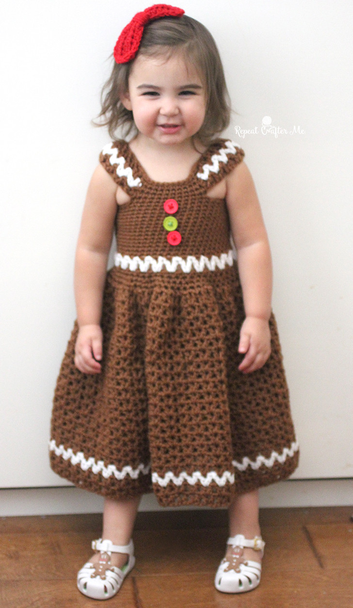 New Crochet Gingerbread Girl Dress Repeat Crafter Me Crochet Girl Dress Of Awesome 46 Images Crochet Girl Dress