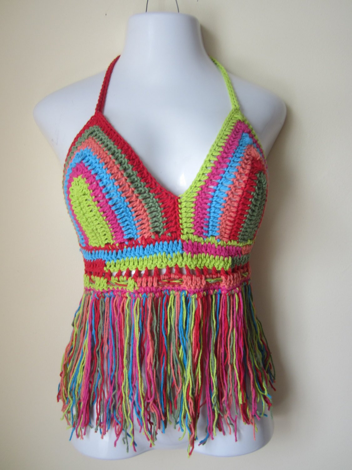 New Crochet Halter top Burning Man Festival Halter top Festival Crochet Halters Of Incredible 40 Models Crochet Halters