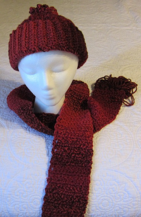 New Crochet Hat and Scarf Set In Red Tweed Yarn Crochet Hat and Scarf Set Of Amazing 44 Models Crochet Hat and Scarf Set