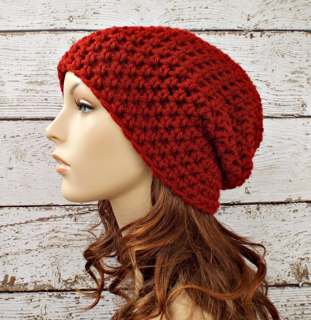 New Crochet Hat Red Womens Hat Slouchy Beanie Hat In Redwood Red Slouchy Beanie Of New 50 Models Red Slouchy Beanie