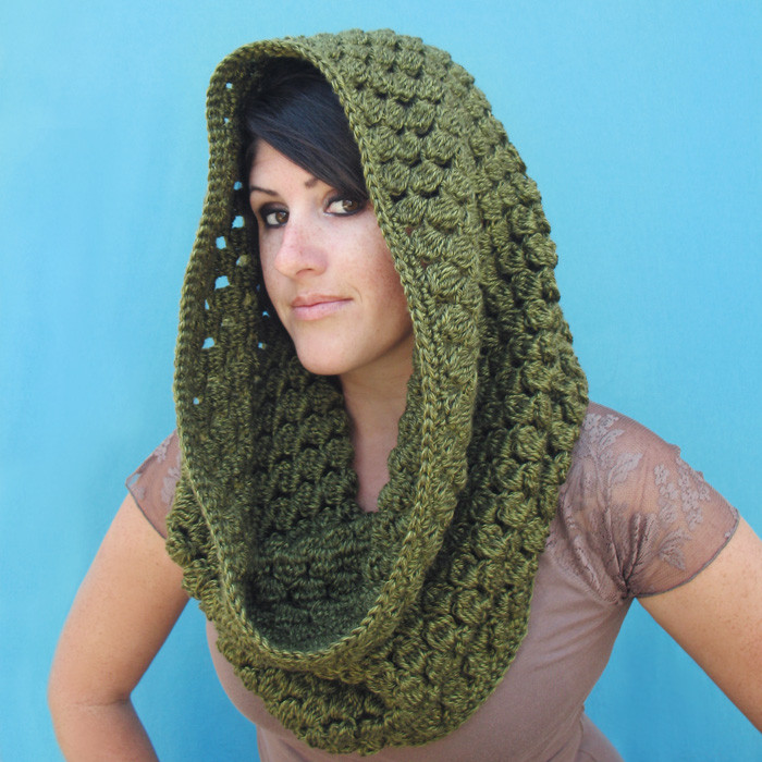 crochet hooded infinity scarf pattern