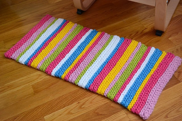 New Crochet In Color Stripey Spring Rug Instructions Crochet Rug Patterns with Yarn Of Great 50 Images Crochet Rug Patterns with Yarn