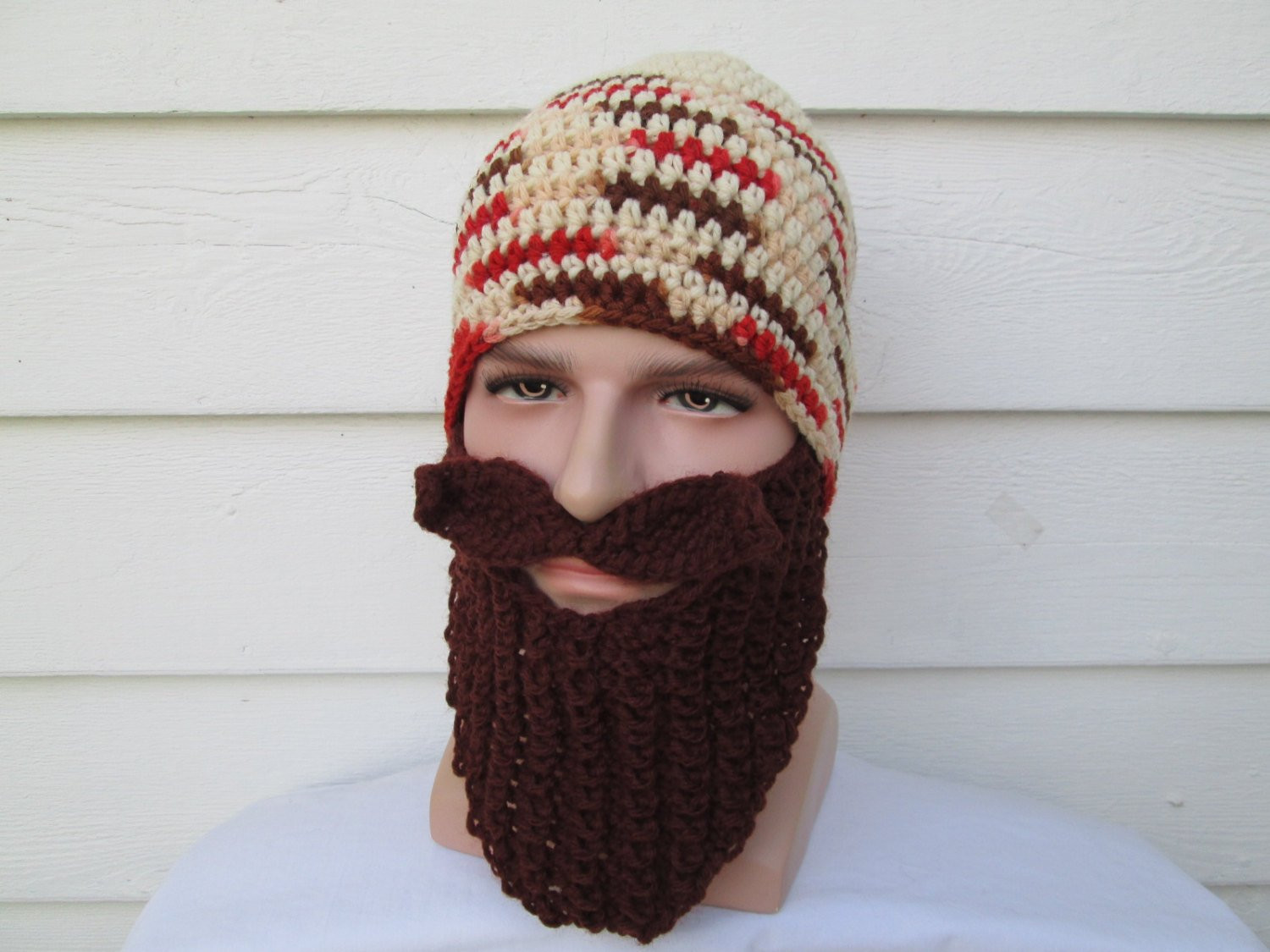 New Crochet Long Beard Hat Knit Beard Beanie Wild Man by Crochet Beard Hat Of Charming 44 Models Crochet Beard Hat