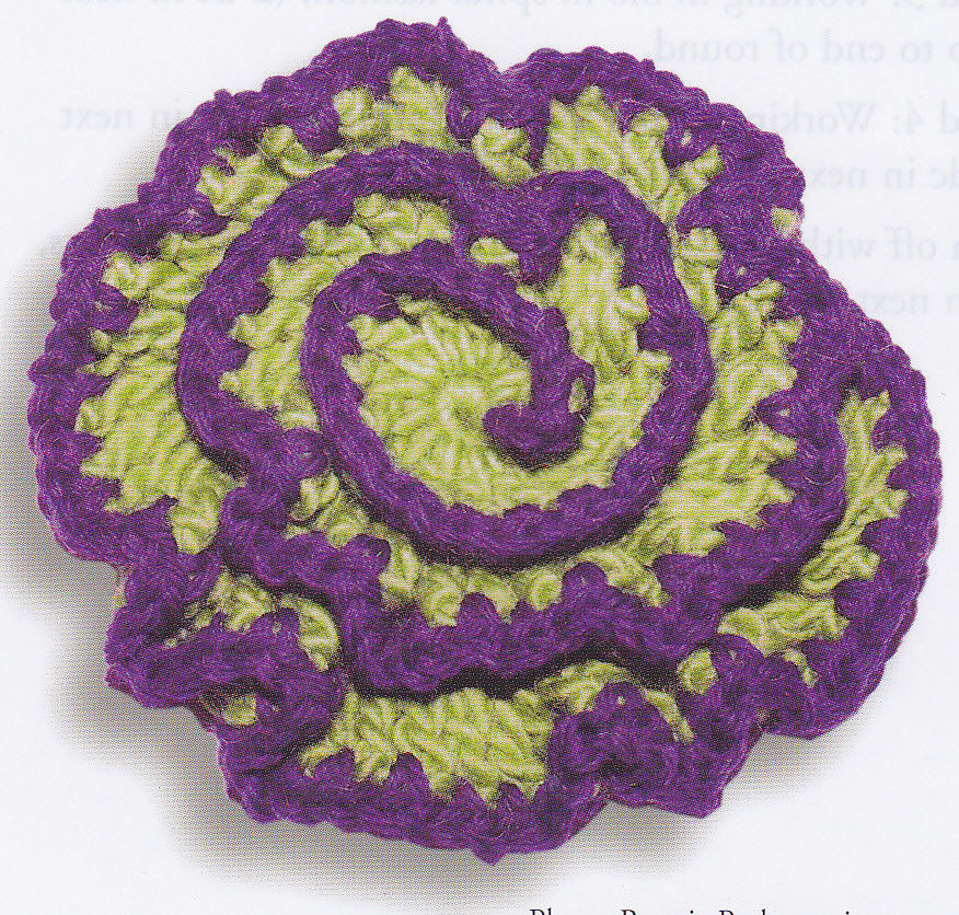 Crochet Pattern BEAUTIFUL SPIRAL FLOWER Instructions