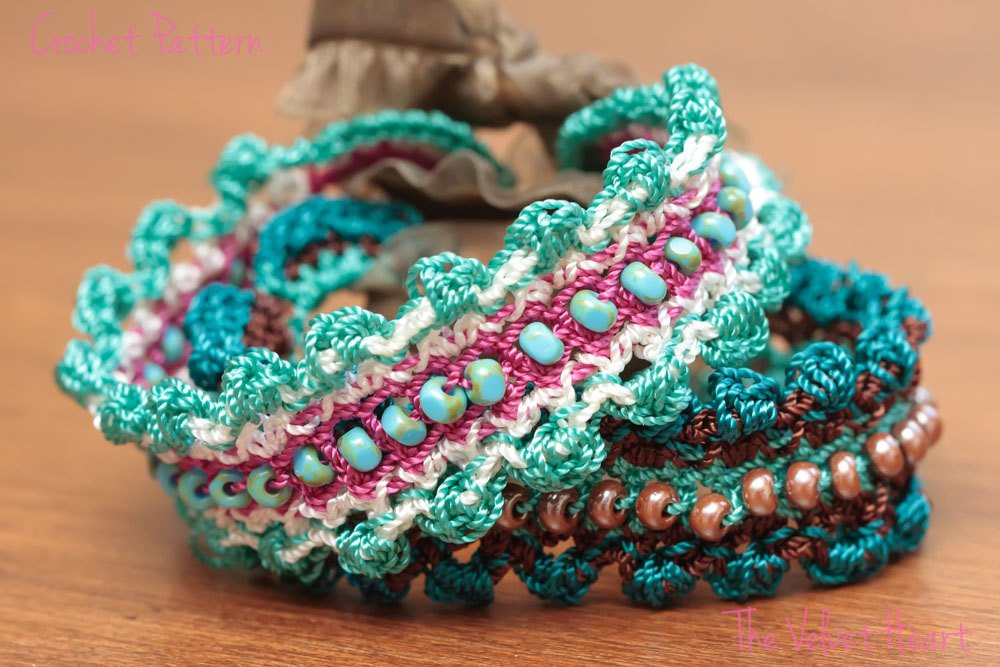 New Crochet Pattern Diy Bracelet Crochet Bracelet Pattern Crochet Beaded Bracelet Pattern Of Brilliant 49 Images Crochet Beaded Bracelet Pattern