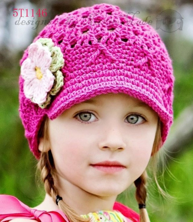 New Crochet Pattern for Hats for Girls – Crochet Club Knitted Hats for toddlers Of Attractive 49 Images Knitted Hats for toddlers