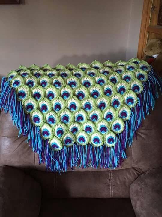 New Crochet Pattern for Peacock Afghan Dancox for Peacock Crochet Blanket Of Amazing 42 Photos Peacock Crochet Blanket