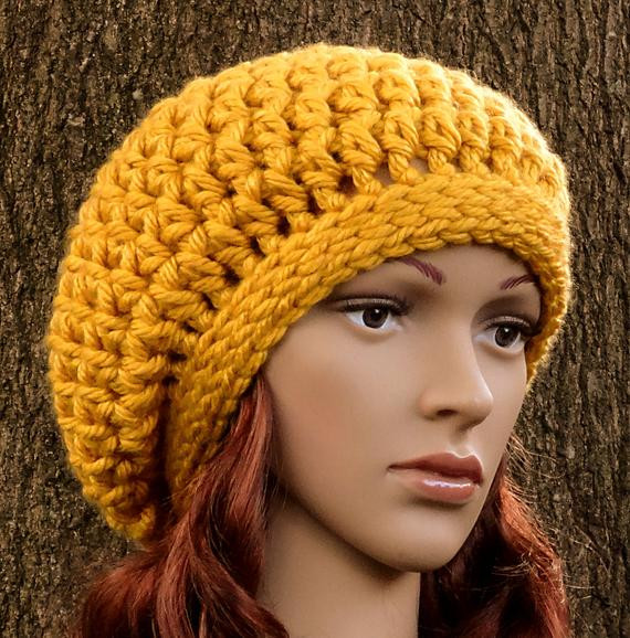 New Crochet Pattern Instant Download Womens Teens Super Crochet Hat Bulky Yarn Of Top 41 Pictures Crochet Hat Bulky Yarn