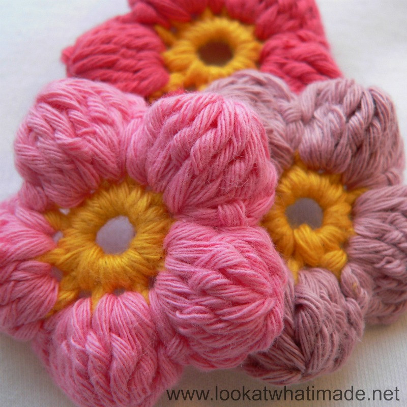 New Crochet Puff Stitch Flower Free Pattern Dancox for Puff Crochet Of Great 49 Ideas Puff Crochet