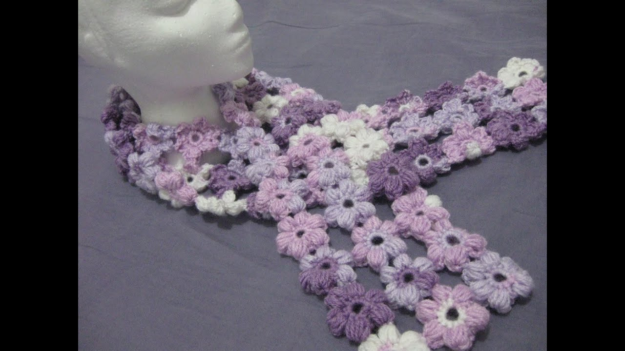 New Crochet Puff Stitch Flower Scarf Left Handed Crochet Puff Crochet Of Great 49 Ideas Puff Crochet