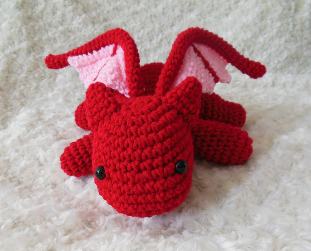 New Crochet Red Dragon Amigurumi by Stitchedlovecrochet On Crochet Dragon Pattern Of Brilliant 50 Pictures Crochet Dragon Pattern