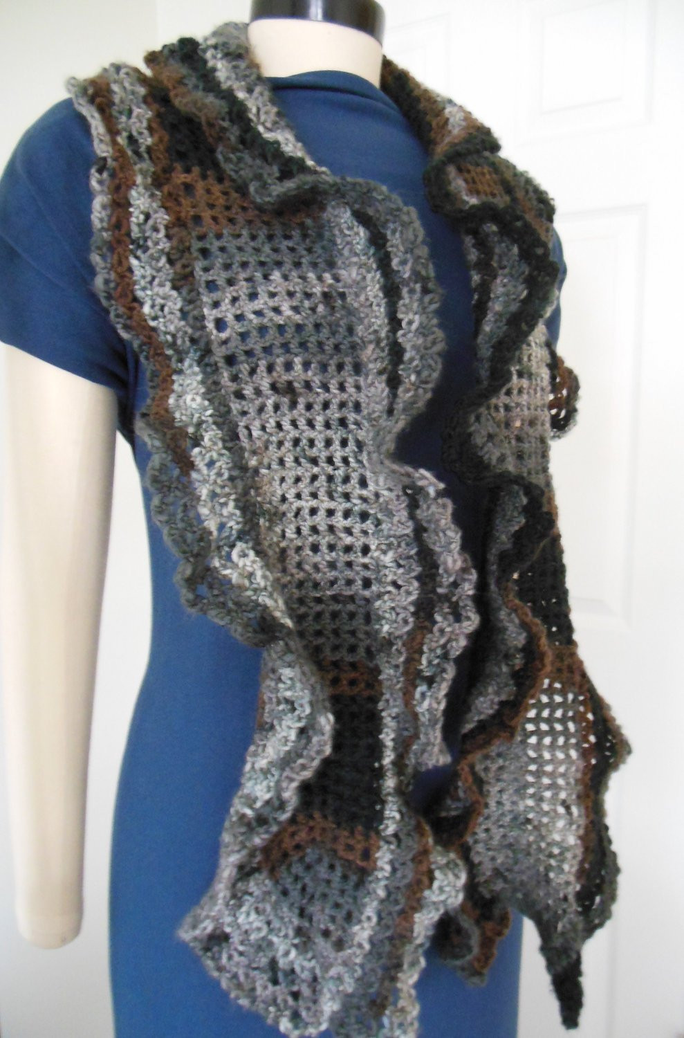 New Crochet Ruffle Scarves for Sale Crochet Ruffle Scarf Of Lovely 41 Models Crochet Ruffle Scarf