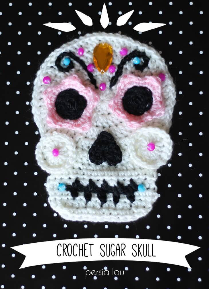 New Crochet Sugar Skull Free Pattern Persia Lou Crochet Sugar Skull Of Incredible 47 Pictures Crochet Sugar Skull