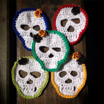 New Crochet Sugar Skull Garland Crochet Sugar Skull Of Incredible 47 Pictures Crochet Sugar Skull