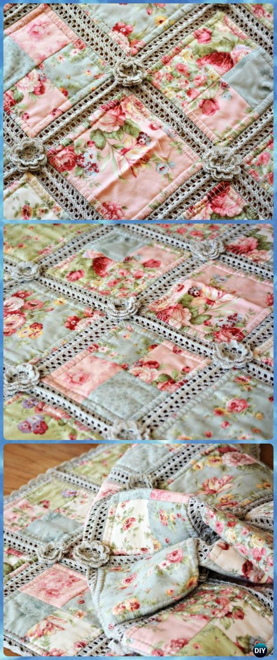 New Crochet Summer Blanket Free Patterns Crochet and Fabric Quilt Of Top 45 Models Crochet and Fabric Quilt
