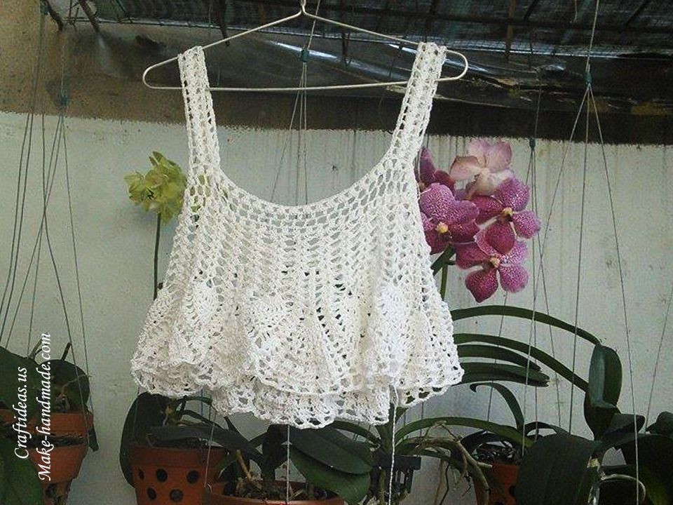 New Crochet Summer Crop top Of Pineapple Stitch Crop top Pattern Of Amazing 41 Models Crop top Pattern