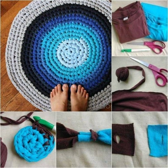 New Crochet Tshirt Rug Pattern Youtube Video Easy Tutorial T Shirt Rug Crochet Of Amazing 48 Pics T Shirt Rug Crochet