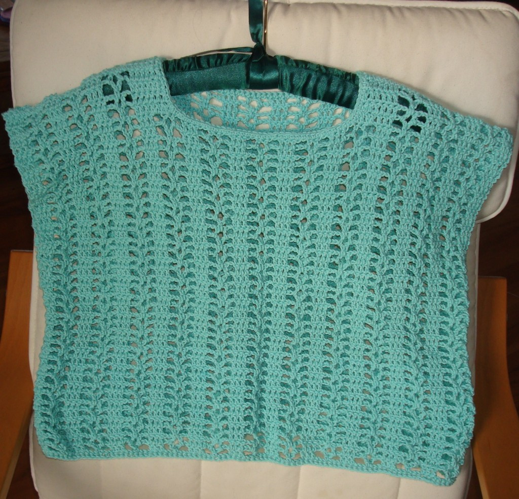 Crocheted Cropped Summer Top Pattern – Yarn Over Pull Through