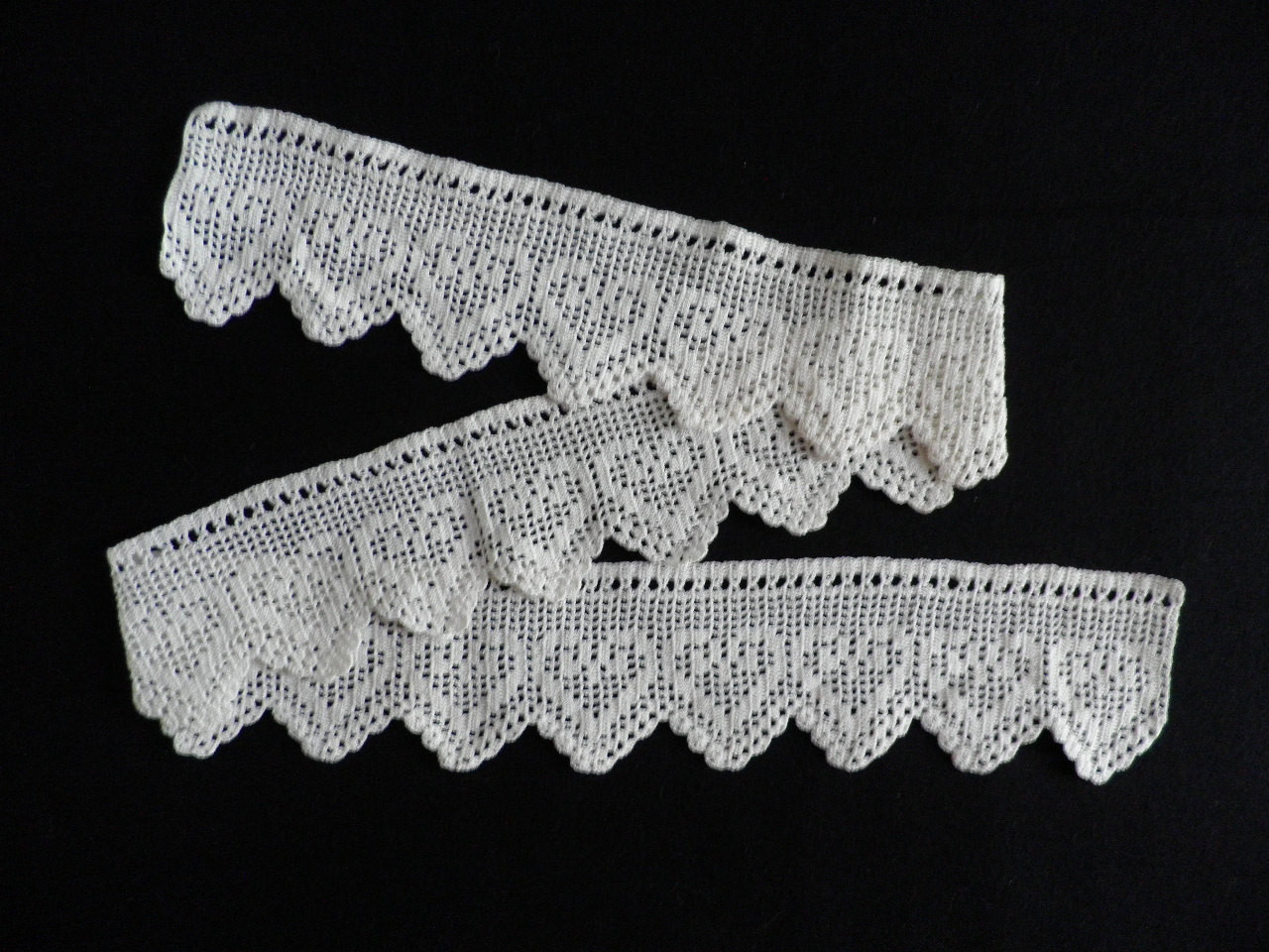 New Crocheted Lace Edging Vintage White Heart Pattern Crochet Lace Edging Pattern Of Amazing 40 Photos Crochet Lace Edging Pattern