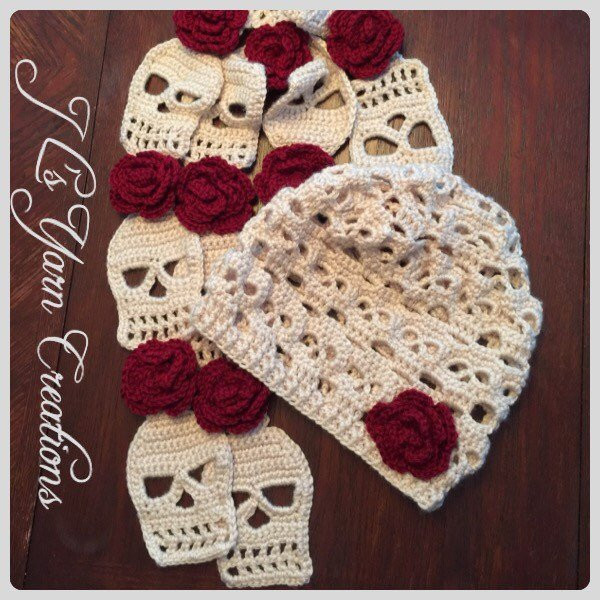 New Crocheted Skull Slouchy Hat and Scarf Set Crochet Hat and Scarf Set Of Amazing 44 Models Crochet Hat and Scarf Set