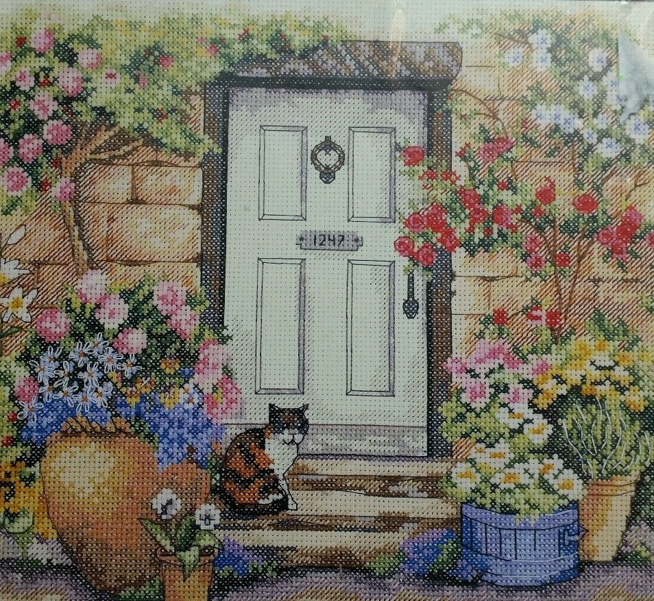New Dimensions Garden Door Kitty Cat Counted Cross Stitch Kit Cat Cross Stitch Kits Of Perfect 42 Pics Cat Cross Stitch Kits