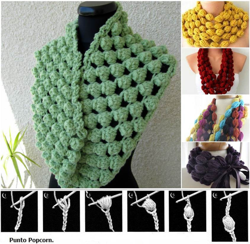 New Diy Stylish Crochet Puff Ball Scarf Puff Crochet Of Great 49 Ideas Puff Crochet