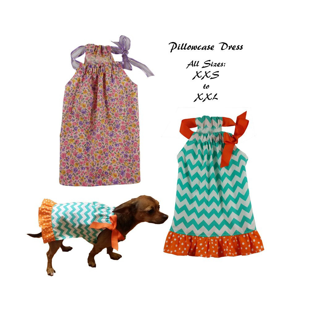 Dog Dress Sewing Pattern PDF Dog Clothes Tutorial Pillowcase