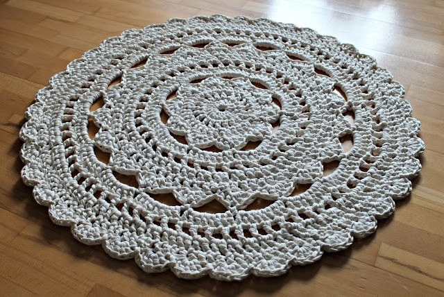 New Doily Rug Made with Zpa Ti Yarn Tutorial In Danish Go Crochet Rug Patterns with Yarn Of Great 50 Images Crochet Rug Patterns with Yarn