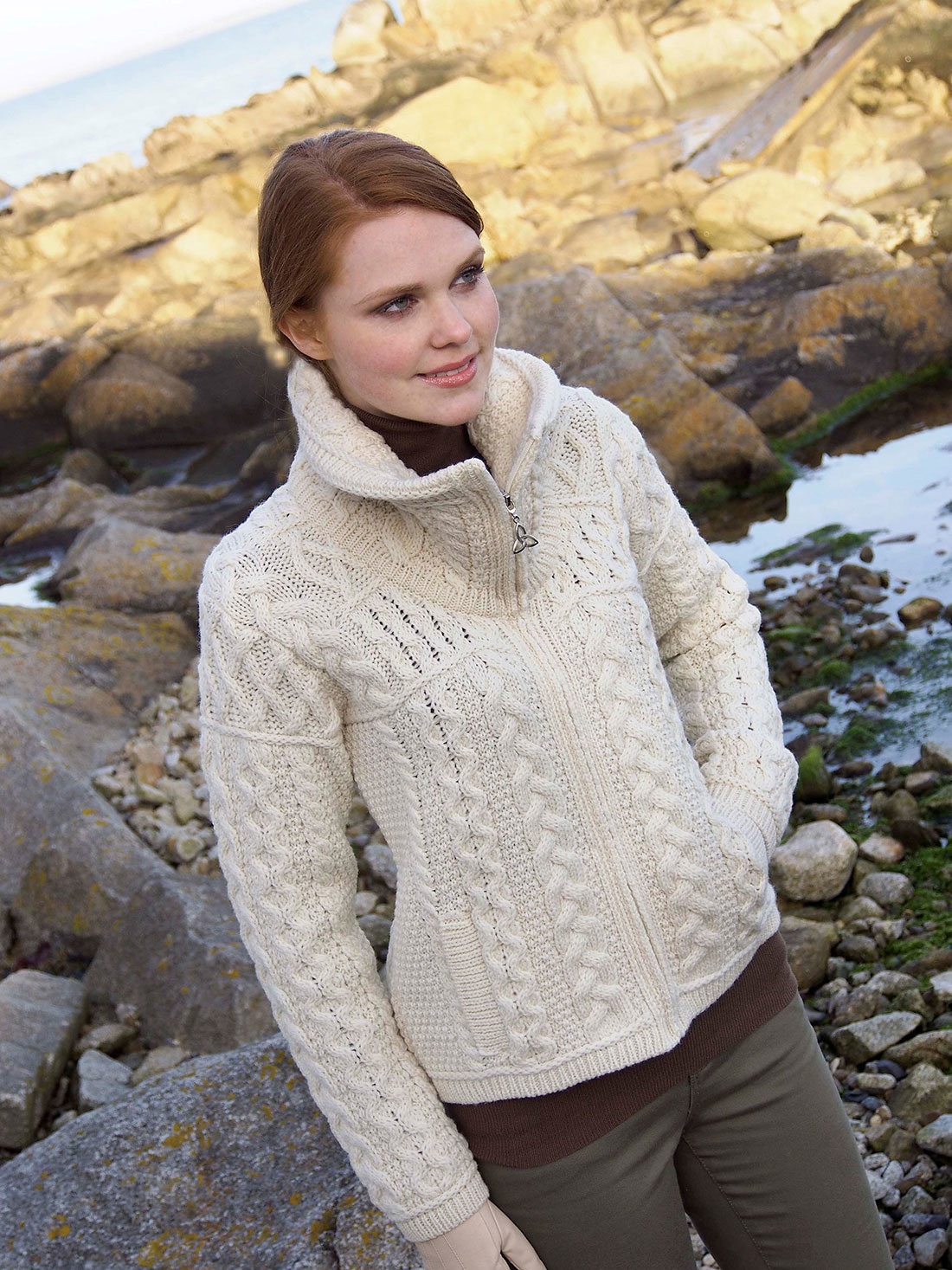 New Double Collar Zip Aran Cardigan Ireland Knitwear Irish Aran Sweater Of Fresh 40 Pics Irish Aran Sweater