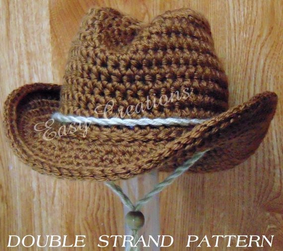 New Double Strand Baby Cowboy Cowgirl Hat Boy Girl Crochet Pattern Crochet Baby Cowboy Hat Pattern Free Of Innovative 40 Pics Crochet Baby Cowboy Hat Pattern Free