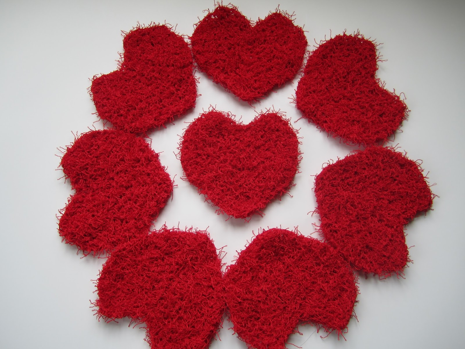 New Down Cloverlaine Quickie Hearts Red Heart Scrubby Of Unique 48 Pictures Red Heart Scrubby