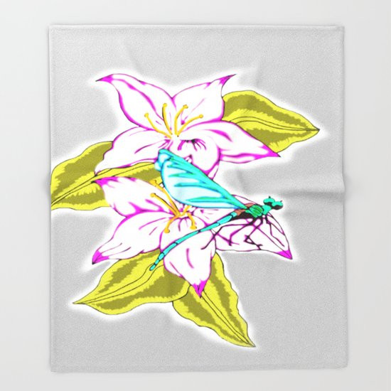 New Dragonfly Escape Throw Blanket by J&c Creations Dragonfly Blanket Of Incredible 45 Ideas Dragonfly Blanket