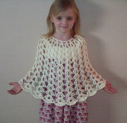 easy crochet baby poncho pattern
