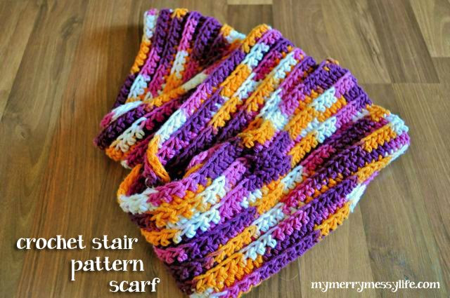 Easy Crochet Scarf – Ribbed Stair Pattern Free Crochet