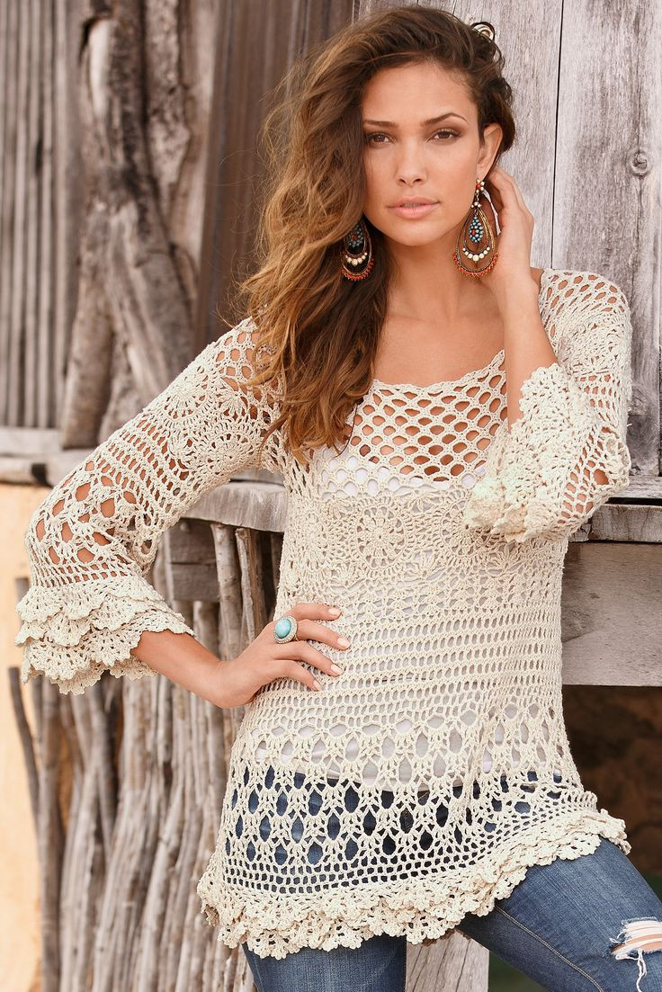 Easy Style Crochet Top for fashion La s – Designers