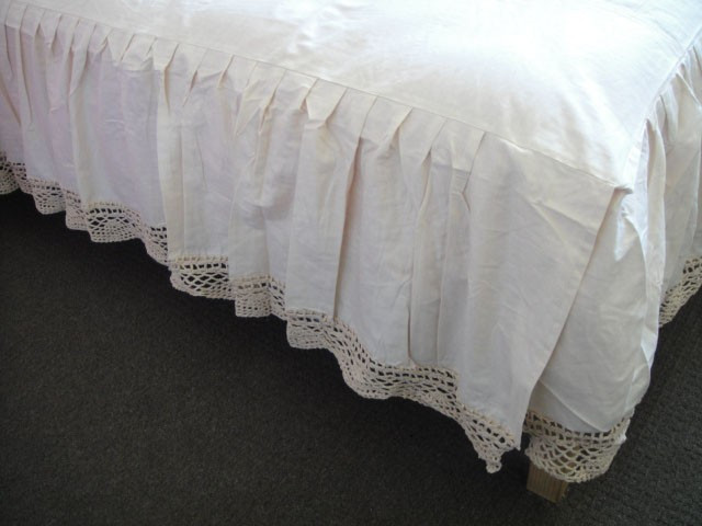 New Ecru Cotton Crochet Lace Double Bed Skirt Sheet Crochet Bed Skirts Of Gorgeous 41 Pics Crochet Bed Skirts
