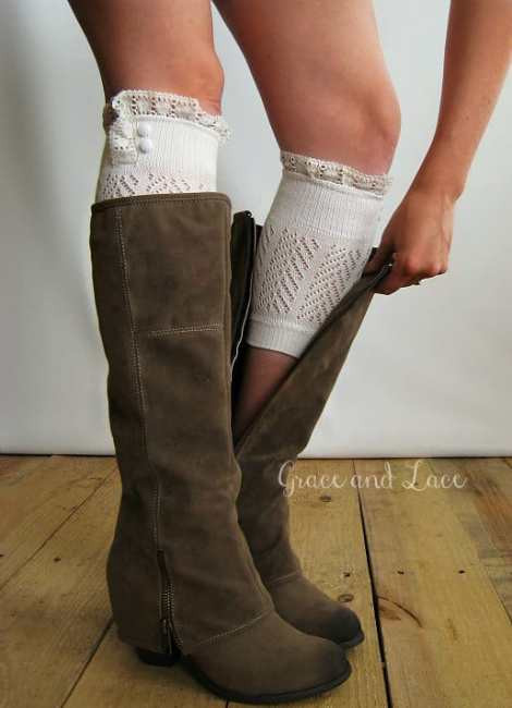 New Etsy Monday Grace and Lace Shop Girl Daily Lace Boot Cuffs Of Awesome 50 Pictures Lace Boot Cuffs