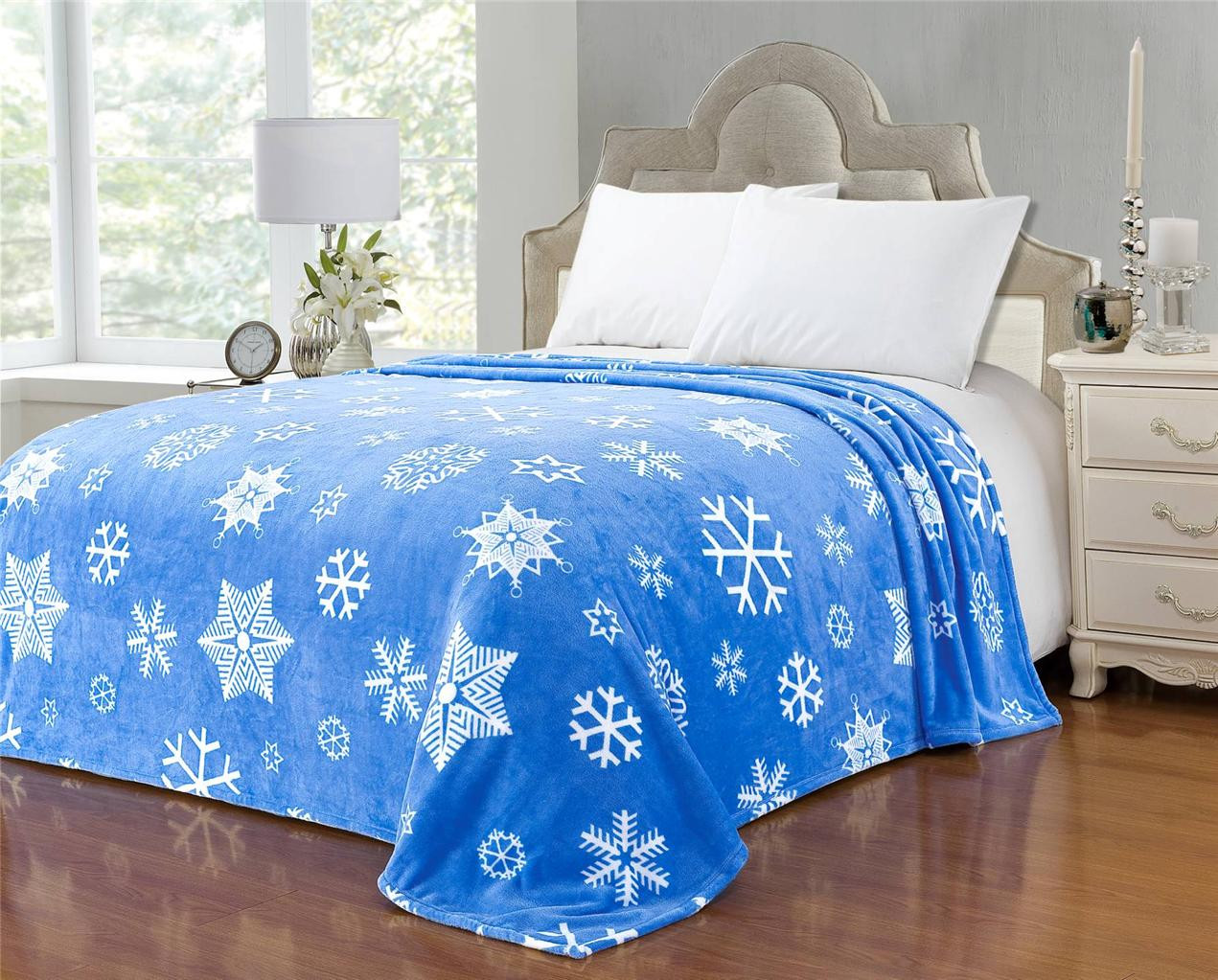 New Euphoria soft Plush Fleece Throw Blanket Bedspread Snowflake Blanket Of Lovely 50 Models Snowflake Blanket